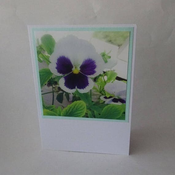 Mother's Day Card - Pansy Flowers - #1627