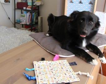 Doudou for dog in cotton cream ground animals and polar Brown