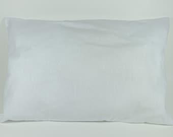 Toddler Crib Pillow Insert - 100% Cotton Fabric - Hypoallergenic Fiber Fill - Ready to Ship