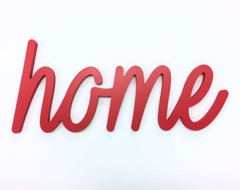 Home Script Word Sign Wall Decor Floating Word Sign Wall Hanging