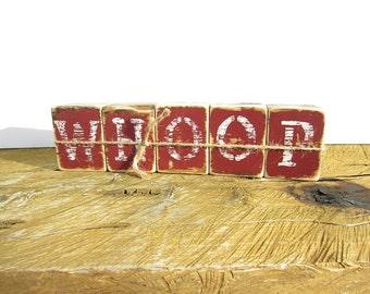 WHOOP Rustic Wood Home/Office Decor-Rustic Decor-Rustic Office Decor-Aggie Decor