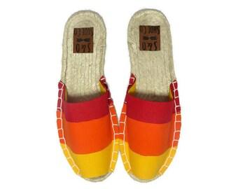 Womens rainbow espadrille sandals - rainbow shoes - rainbow sandals - womens shoes - womens sandals - womens espadrilles