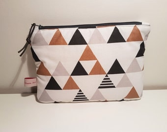 Triangle Collection, medium size pouch, clutch bag, wallet, make-up bag