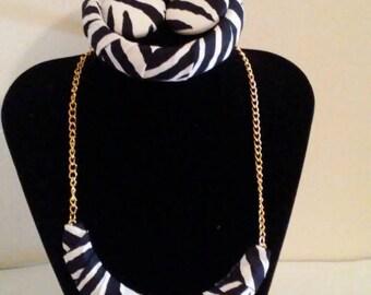 Zebra Print, Jewelry Set, Black & White, Zebra Fashion, Gift Set