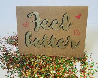 Feel Better Glitter Bomb w. Envelope (Unassembled)