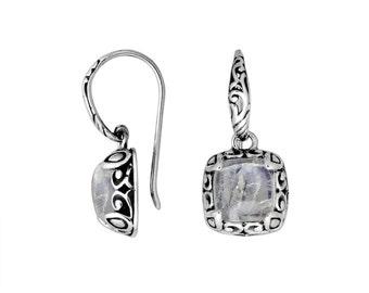 Moonstone sterling silver earring