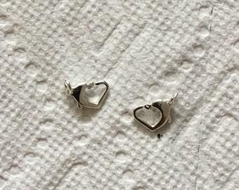 Sterling silver open heart lobster