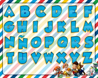 Alphabet Paw Patrol 27 letters PNG HD + 15 Extra Clipart