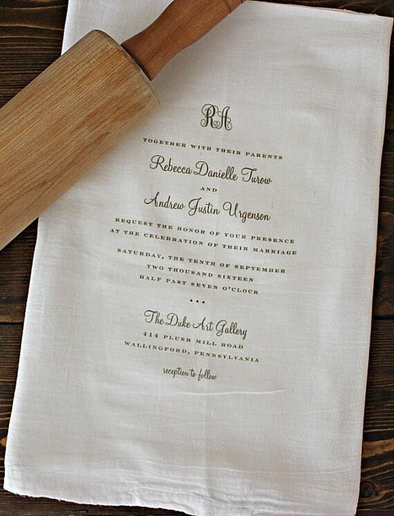 Wedding Gift Tea Towels : cotton tea towelweddings, bachelorette gift, gift for her, gift ...