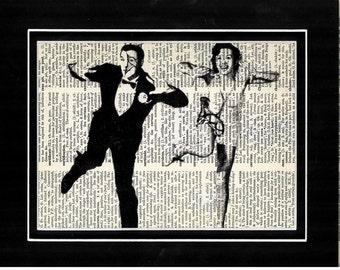 369 Debbie Reynolds/Gene Kelly/Singing in the rain/musical/Art print