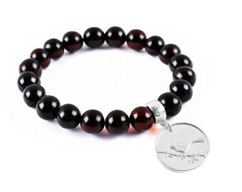 Bird charm, bird jewelry, bird bracelet, handmade jewelry, healing bracelet, medical bracelets, mens bracelets, gifts for him, mens gifts
