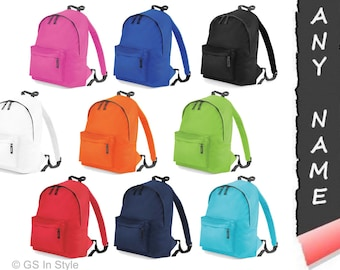 Personalised junior fashion backpack with your text/logo
