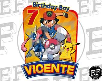 Pokemon Go Birthday shirt, Pokemon Birthday T-Shirt  Pokemon Go, POKEMON GO. Birthday Boy, Pokemon Birthday