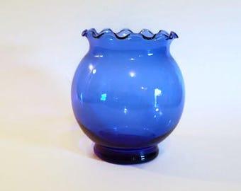 Cobalt Blue Globe Vase