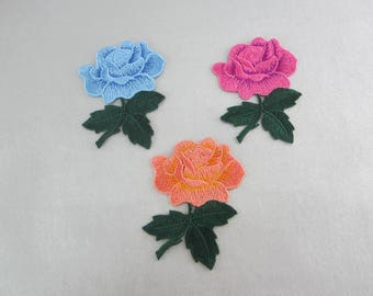 Embroidered Flower Patches
