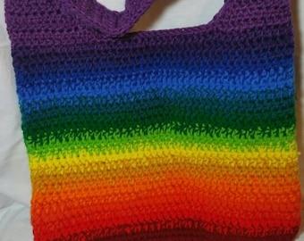 SALE.Rainbow purse crocheted handbag