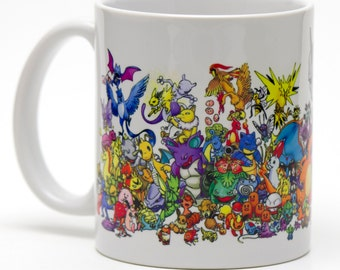 All Original Pokemon 11oz ceramic mug.