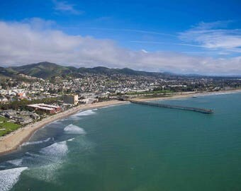 Panoramic photo of Ventura pier and city taken with Aerial Drone