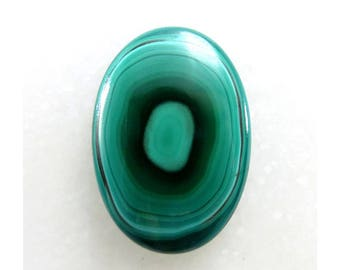 100% Natural Malachite Oval Shape Loose Gemstone Cabochon Jewelry Making Semi Precious Gemstone 20X29X4mm 27Cts B-10612