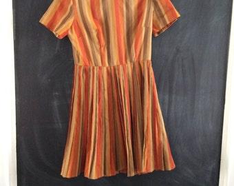 FDress vintage orange stripes