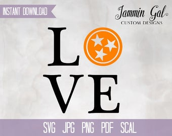 INSTANT DOWNLOAD | UT Vols | Love Vols | Tennessee Digital File | svg, pdf, jpg, png, scal | Cricut Silhouette or print