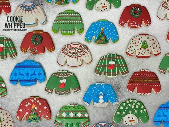 Ugly Sweater Cookies Dozen