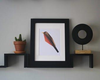 Geometric Robin Print, Digital Download
