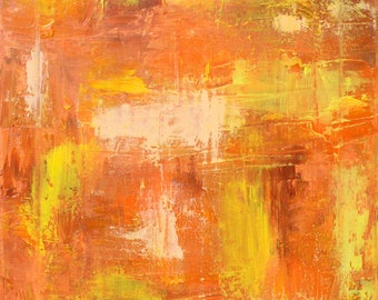 Orange and Yellow Abstract Oil Painting