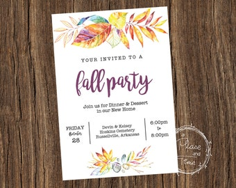 Printable Fall Party Invitation