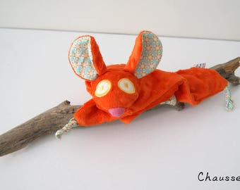 Orange mouse blankie - Stuffed Animal - Baby Shower Gift - Baby gift