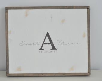 Wedding guest book - alternative guest book - wedding decor - wood guestbook