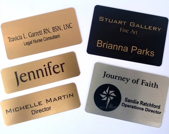 Metal Magnetic Name Tags