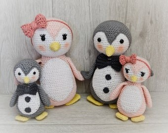 Familie Pinguin - PDF Anleitung