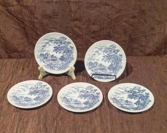 Wedgwood Countryside set of five bread and butter plates, free shipping