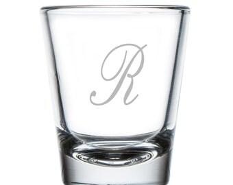Script Initial 2 oz Shot Glass (SGH5057-AF123)