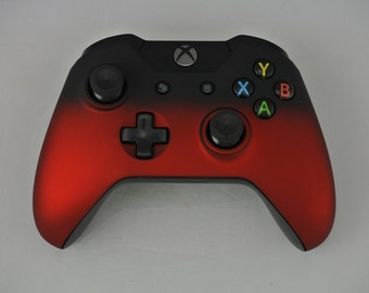 Microsoft Xbox One Wireless Controller Custom Faded Soft Touch Red