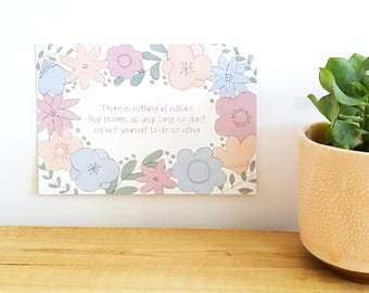 Postcard - Nothing blooms all year long