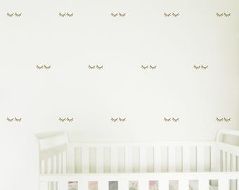 EYELASHES Wall Sticker, Removable Decal, Made In Australia