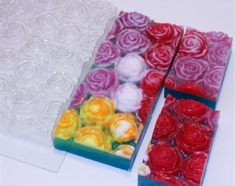 Roses - plastic soap mold soap making soap mould molds soap mold