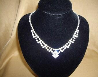 1940/50's diamante necklace
