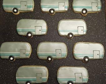 Airstream Camper Cookies