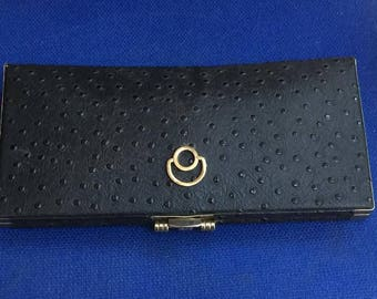 Vintage Ostrich leather clutch bag