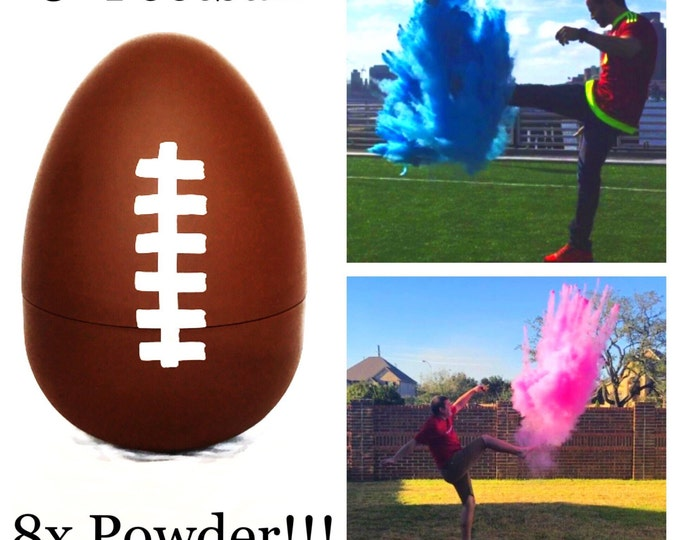 "SALE 8"" Football Gender Reveal Football with 8x Powder!!!!"