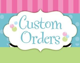 Custom FONDANT Topper Order