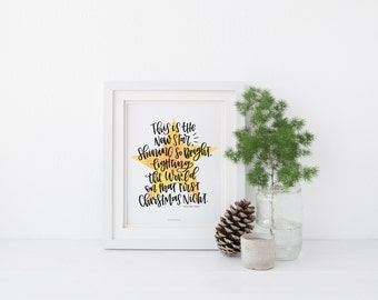 This is the New Star - Handlettered Print - Christmas