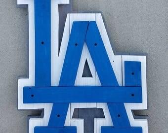 LA Dodgers Sign | LA | Dodgers | Baseball Sign | LA Dodgers | Pallet Wood Sign | Wood Baseball Sign | Sign