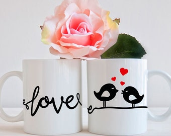 love birds on power line, svg, cup, mug, Valentine's Day, Love, wedding, couple, gift, vector, decal, clip art, graphic, design, file, files