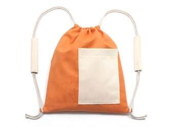 Turnbeutel / Orange-cream / Orange-creme beutel / Gymbag
