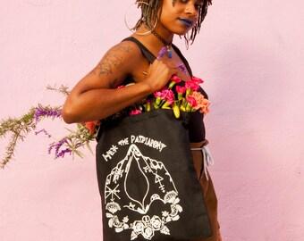 Black Hex the Patriarchy Canvas Tote