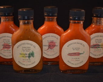 Variety 5 Pack (s) ~ Heat Level 1 ~ 5 ~ All Natural Hot Sauce